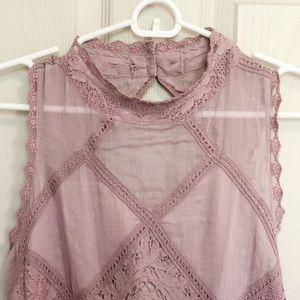 Mauve lace Free People dress size S